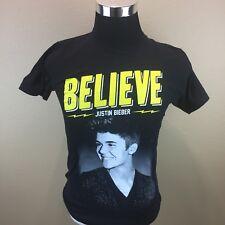 Justin Bieber 2013 Believe Tour Concert T-Shirt. Adult Size S Small. Black