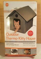 K&H Outdoor Heated Kitty Cat House in Olive NEW!