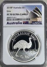 2018P Australia $1 1oz Emu  NGC PF70 Ultra Cameo