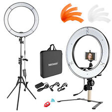 "18"" 55W Dimmable Desktop and Floor Ring Light Lighting Kit with Support Stand"