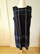 Next Ladies Size 14 Navy,Blue/White Checked Sleeveless Tunic/Dress  BNWOT