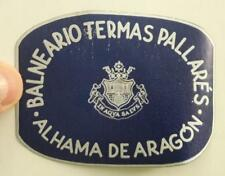 SPAIN Balneario Termas Pallares Alhama de Aragon, hotel luggage label spa resort