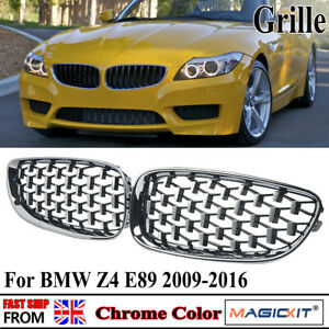 Front Kidney Grille Chrome Diamond Meteor Style Grill for BMW E89 Z4 2009-2016