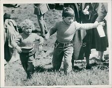 1955 Queen's Children at Horse Show Original News Service Photo