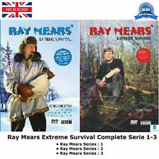 Ray Mears Series 1-3 BBC documentary Extreme Survival DVD Collection 1 2 3 UK R2
