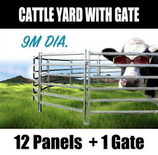 13 Horse Panel 9m Diameter Cattle Yard Heavy Duty Outdoor Cow Fence with Gate
