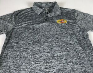 Pennzoil Polo Shirt Adult Medium Gray Black Dri-Fit Racing Golf Oil Mens Dry Top