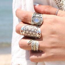 925 Sterling Silver Long Filigree Ring Full Finger Statement Spirals Size 6 7...