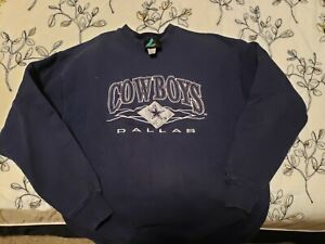 Vintage 1990's Dallas Cowboys Logo Athletic  Sweatshirt Adult-Made in USA