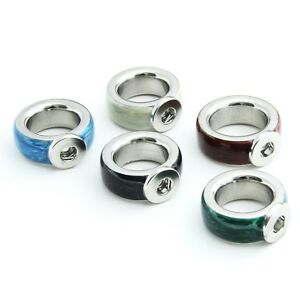 38x Ring für Click Buttons Druckknöpfe Edelstahl 11mm MASSIV Gr. 18 und 20,5