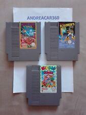 LOTTO NES Super spike v'ball+Solomon's key+Kickle cubicle Nintendo ita mattel