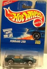 Hot Wheels 1995 Basic Line #452 Ferrari 250 Convertible Green Metal flake MINT