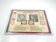 Truth is Sometimes Stranger Than Fiction Lincoln & Kennedy Coin Set