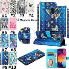 Phone Painted Leather Flip Card Wallet Case Cover For Samsung A10/M10 A71 A20S