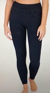 Spanx Assets Leggings Size XL Jean Look 20223R Indigo Blue Shaping D22