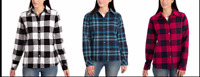 Orvis Women's Fleece Lined Bonded Flannel Shirt Jacket Size&Color:Variety NWT!