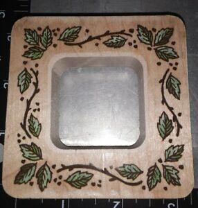 Wild leaf frame,stampendous,918,rubber, wood