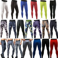 Mens Compression Trousers Base Under Layer Pants Long Leggings Sports Sweatpants