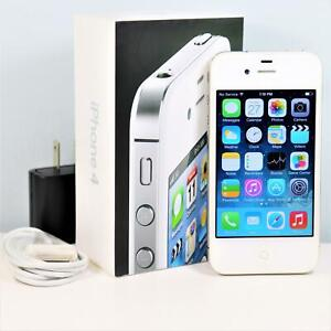 Apple iPhone 4 (AT&T) 8GB, White In Box Smartphone - GSM 3G - A1332