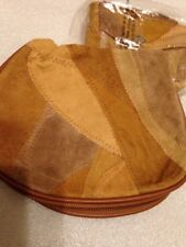 Patch Suede Change Purse & Cosmetic Bag NEW