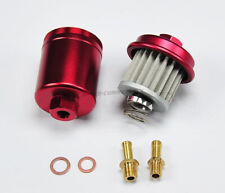 RED HIGH FLOW RACING PERFORMANCE WASHABLE FUEL FILTER FOR 94-01 ACURA INTEGRA