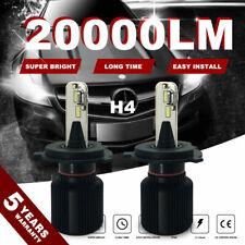 2xH4 200W 20000LM 9003 HB2 LED Headlight Bulb 60000K Hi/Lo Beam Fanless 4FP