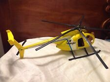 Vintage ERTL Hughes Wrangler Wranch Helicopter Yellow Diecast Metal Toy