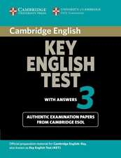 Cambridge Key English Test 3 Student's Book with Answers: Examination Papers fro