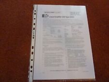 PYE - Philips A200 Linear Amplifier Service Sheet