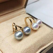 High heels 8-8.5mm Tennyo Japanese akoya saltwater pearl earring G18K order only