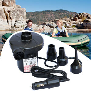 12V DC Electric Air Pump Inflator For Bed Mattress Boat Paddling Pool Car Auto