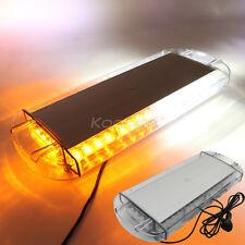 Amber / White 40 LED Vehicle Roof Top Emergency Hazard Warning Strobe Light Lamp