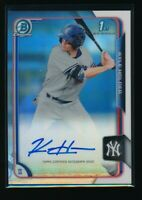 KYLE HOLDER AUTO 2015 Bowman Chrome Autograph REFRACTOR Yankees Rookie Card RC