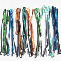 """58-70"""" AMO Handmade Archery Bow String Recurve Traditional Bowstring Colorful"""
