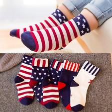 Modern 2017 Cotton Socks Cute American Flag Stars Stripes Patterns Kids Socks