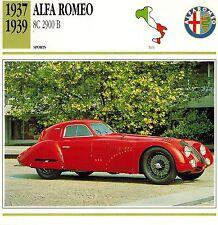 "ALFA ROMEO 1937-1939  ""8C 2900 B"" ADVERTISING BROCHURE"