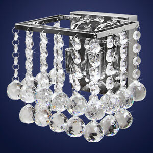 Modern Crystal Droplet Chandelier Style Wall Light Decoration Lamp M0065