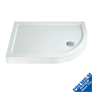 900 x 760mm Offset Quad Shower Tray Right Entry Easy Plumb Anti-Slip FREE Waste