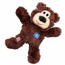 KONG Wild Knots Bear Reinforced Plush Squeaky Dog Tug Toy Choose Size NKR1 Medium/large