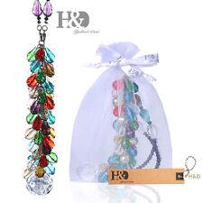 Colorful Hanging Suncatcher Crystal Drop String Prism Pendulum Feng Shui Pendant