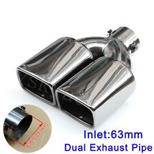 Universal 40mm-57mm Inlet Car Tail Rear Pipe Tips Muffler Exhaust Silencer Cover
