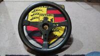 350mm original RAID three spoke steering wheel Porsche 911 / 912 -73