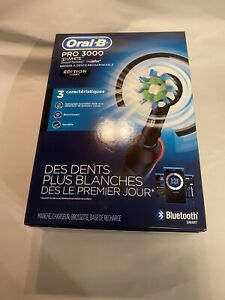 ORAL-B PRO 3000 SMART SERIES RECHARGEABLE TOOTHBRUSH BLACK EDITION BLUETOOTH