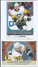 Carter Rowney  2-RC Lot  UD Young Guns & OPC Marquee Rookie Retro