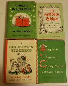 Vintage Christmas Nutshell Library Hilary Knight 4 Books in Slipcase