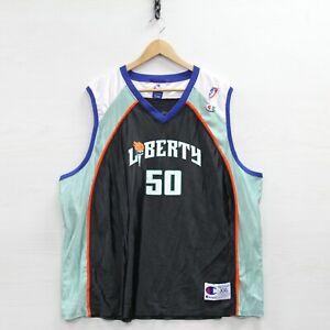 Vintage Rebecca Lobo New York Liberty Champion Jersey Size Womens 2XL 90s WNBA