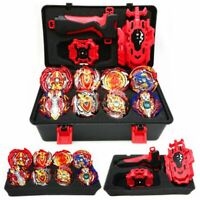 Beyblade Burst LR Launcher Grip + Portable Storage Box Lots 8pcs Bayblades Set