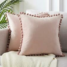 43x43cm Luxury Pom-poms Cushion Cover Without Filling Soft Particle Velvet Solid