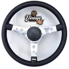 "Vw Corrado 16v 8v G60 13"" Black Alloy Retro Vinyl Steering Wheel & Boss Horn Kit"