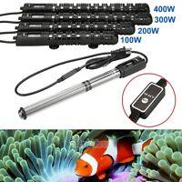 100/200/300/400W 110V Aquarium Submersible Fish Tank Adjustable Water Heater New
